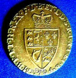 Extra Rare 1774 Great Britain Gold Guinea George III SPADE Circulated 8.53 grams