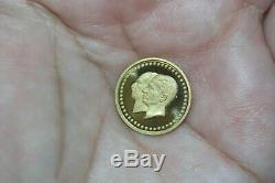 Fine 22K. 900 Gold Pahlavi Bank Melli Commemorative Collectible Coin 2.5 Grams