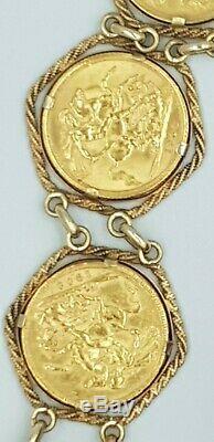 Full Sovereign 6 Coin Bracelet 78.6 Grams