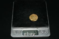 Genuine Ancient Persia Islamic Gold Dinar Coin in Very Fine Condition 3.3 Grams