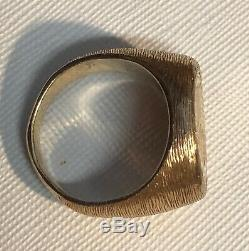 Gold $2.50 Coin Ring 1914 Indian Qtr. Eagle 26.7 Grams Size 12, 14 & 22 Kt-nice