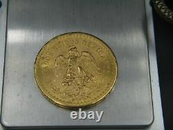 Gold Coin Mexico CINCUENTA PESOS 1947 37.5 grams pure gold Uncirculated