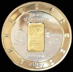 Gold Karatbars 1 Gram 999.9 Fine Bar / Coin / Token In Capsule