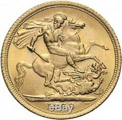 Gold coin Sovereign Elisabeth II, Young Head, pure gold 7,315 grams