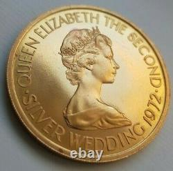 Jersey. Proof gold £50, 1972, Silver Wedding of Elizabeth II 23 Grams 22ct coin