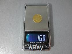 LARGE ANTIQUE OTTOMAN GOLD TURKISH TURKEY ISLAMIC COIN VERY RARE 1.68gram #A