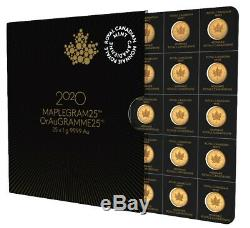 (LOT 2) 2020 Gold Maple 1 Gram Royal Canadian Mint Coins 24KT. 9999 In Assay