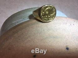 Ladies Panda Coin 14k Gold Ring 1/20 Coin 6 Grams Size 6 -Reduced
