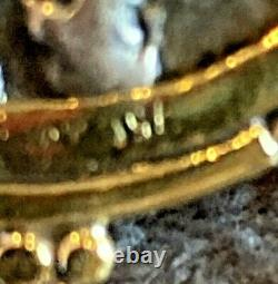 Large Estate 18k Gold Roman Coin Pendant 17.4 Grams