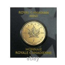 Lot of 5 2021 1 gram Canadian Gold Maples $. 5 Coin. 9999 Fine Maplegram25