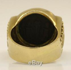 Lovely 14k Yellow Gold Roman Coin Ring! 10.7 Grams #w15