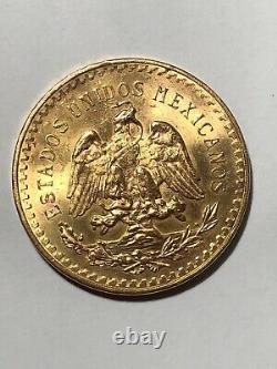 Mexican gold coin 1921-1947, uncirculated, 37.5 grams of pure gold, 50 pesos