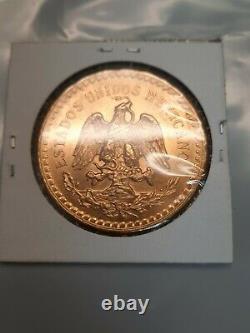 Mexico 1947 Gold 50 Pesos Centenario 37.5 Grams of Pure Gold Coin 1.2057 UC