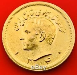 Mohammad Reza Shah Pahlavi Gold Coin 1 Pahlavi Year 1340 Weight 8.1 Gram