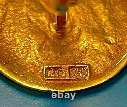 NIKE GODDESS OF VICTORY 18K GOLD CUFFLINKS Ancient Greek Coin Design 12.67 grams