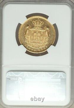Ngc Ms62 1879 Portugal 100000 Reis Gold Coin-18 Grams- Flashy And Prooflike-nice