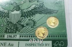 PHOENIX CERTIFIED BULLION 4 Each 1 gram. 9999 AU GOLD COIN FREE SHIPPING