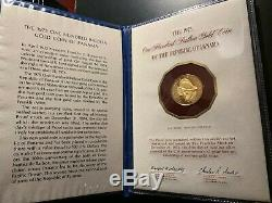 Panama 1975 100 Balboa Gold Coin / 8.16 Grams / Proof / Orig Documentation
