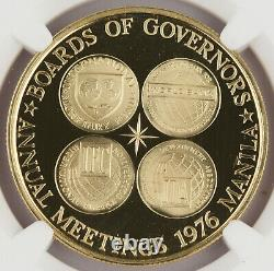 Philippines 1976 20 Gram 90% Gold 1500 Piso Proof Coin NGC PF69 I. M. F. Meeting
