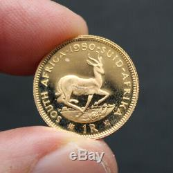 Pièce Or 1 Rand Afrique du Sud année 1980 South Africa Gold Coin 3,99 grammes