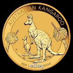 Pièce or 1/10 once 3,11 grammes Kangourou Australie 2020 1/10 oz Gold Kangaroo