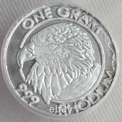 RHODIUM Eagle 1 Gram 99.9% Pure Cohen Mint Coin More Rare than Gold, Palladium