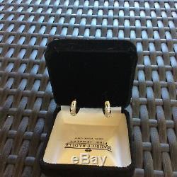 Roberto Coin 18 K Diamond Huggie Earrings 10.7 grams. 42 diamond carats