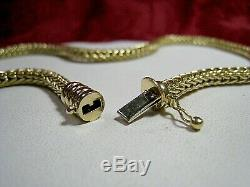 Roberto Coin 18k Gold Woven Wheat Chain Heavy Necklace Choker 34 Grams 16.25