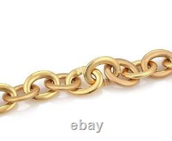 Roberto Coin 18k Pink Gold Large Oval Link Chain Long Necklace 160 grams 39L