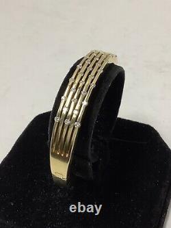 Roberto Coin. 18k Yellow Gold Bracelet. Diamonds 46.8 Grams. Signed