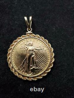 Saint Gaudens 20 Dollar Gold Coin Pendant Weights 40.2 Grams