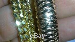 Solid 18k rose gold flexible 11mm Roberto Coin bangle bracelet 27.33 grams