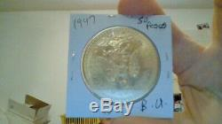 Stunning 1947 Mexico 50 Pesos Solid Gold Coin 37.5 Grams Uncirculated Rare Bu
