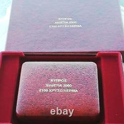 THE HOLY GRAIL, CYPRUS MILLENNIUM GOLD COIN 30 grams TALANTO SUPER RARE