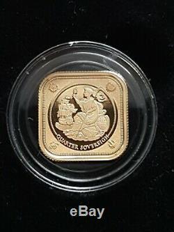 The 2019 Britannia Four-Sided 2 gram 22Ct Gold Quarter Sovereign