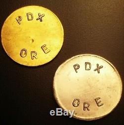 ULTRA RARE! Mt. Hood 1.56 gram 24K Gold &. 999 Silver token/coin/medal/bar/charm