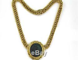 Unoaerre Italian 18K Yellow Gold Ancient Roman Coin Necklace, 16 L, 60 Grams