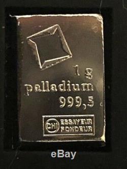 Valcambi Gold Silver Palladium Platinum (1 Gram Each) + FREE FUN 1g COIN