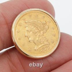 Vintage/Antique LIBERTY HEAD GOLD COIN 1861 1877 14K GOLD CUFFLINKS! 15 GRAMS