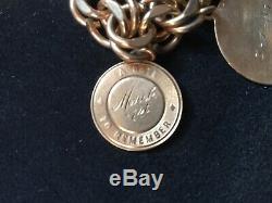 Vintage Charm Bracelet 14K Gold Charms, Coin, Bracelet 12k G. F. 82.1 Grams TOTAL